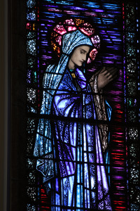 Our Lady stained glass window